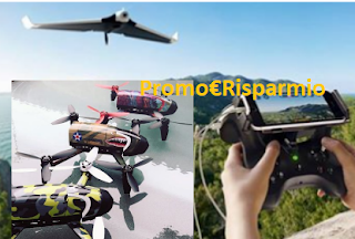 Logo Vinci gratis buoni spesa da 100 euro, Parrot Bepop e droni