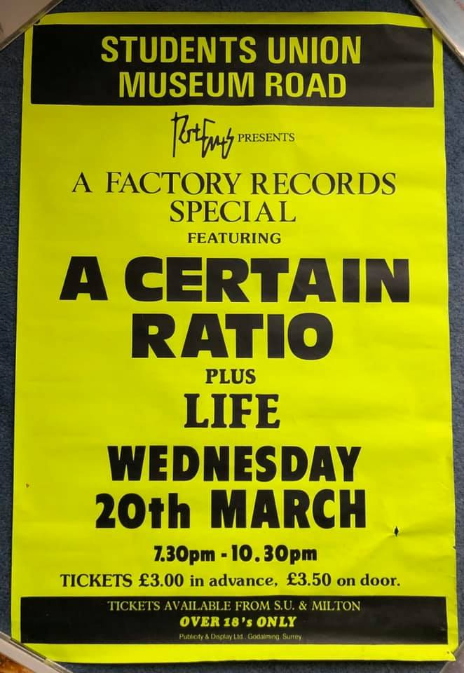 20 March 1985, Polytechnic, Portsmouth - ACR Gigography