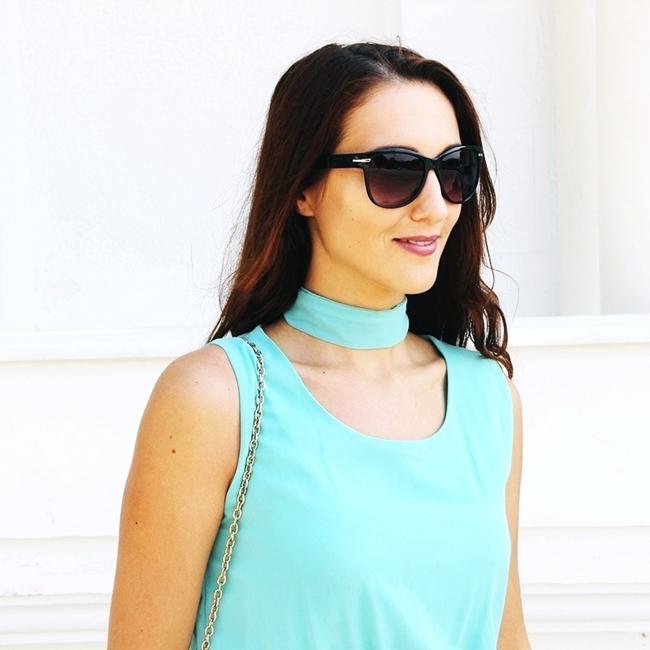 Jelena Zivanovic Instagram @lelazivanovic.Glam fab week.Best mint outfits.H&M black sunglasses.