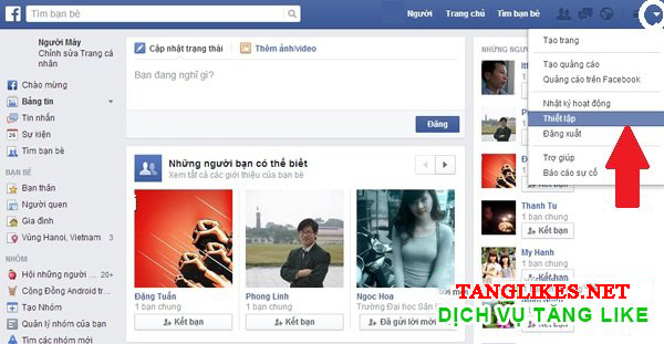 Cách bật theo dõi facebook