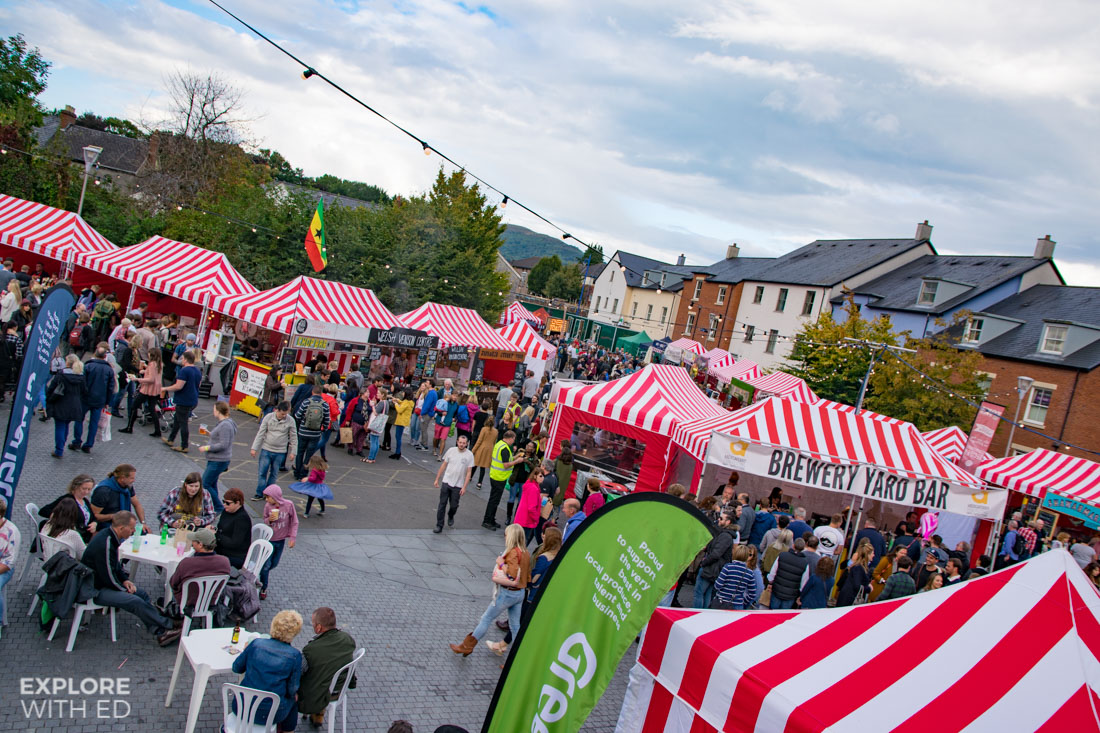 Food Stalls at Abergavenny Food Festival