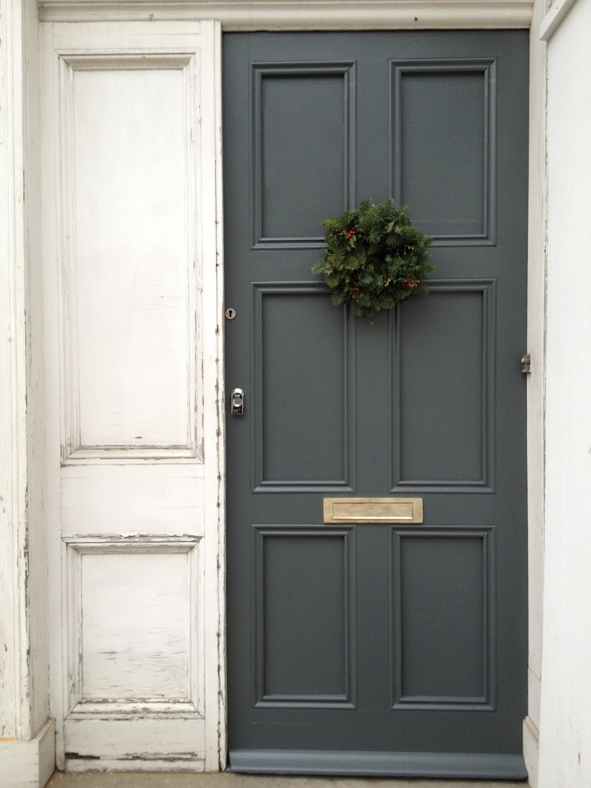 Grey front doors. google colour palet forward. and french on ...
