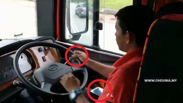 Video Pemandu Bas Merokok, Main Telefon Bimbit Dikecam Netizen
