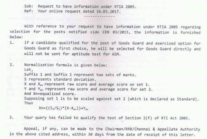 RRB NTPC Normalization Formula, Calculate Normalization Marks, Railway Normalization Marks