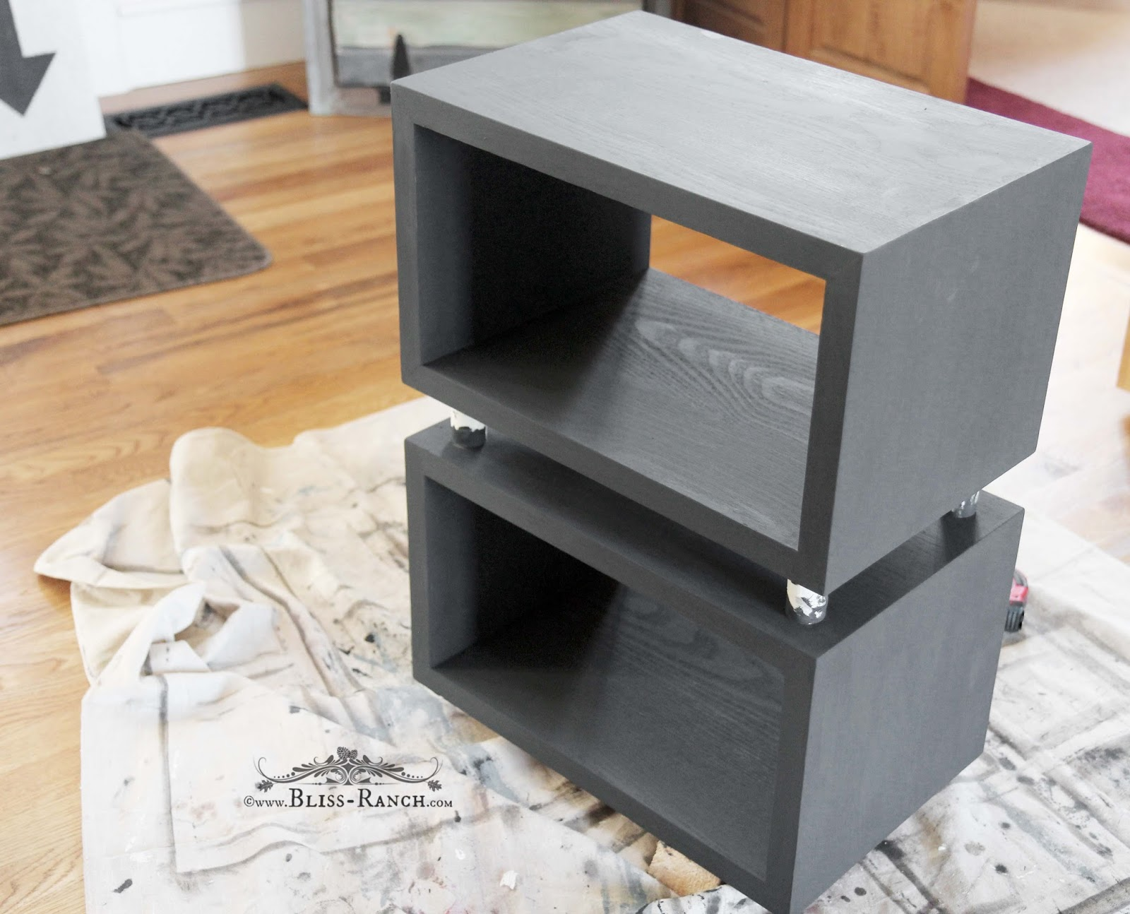 Target Nightstand Makeover, Bliss-Ranch.com