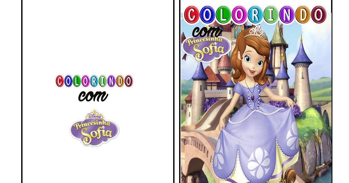 Livro De Colorir Da Princesa Sofia Para Voce Imprimir Gratis