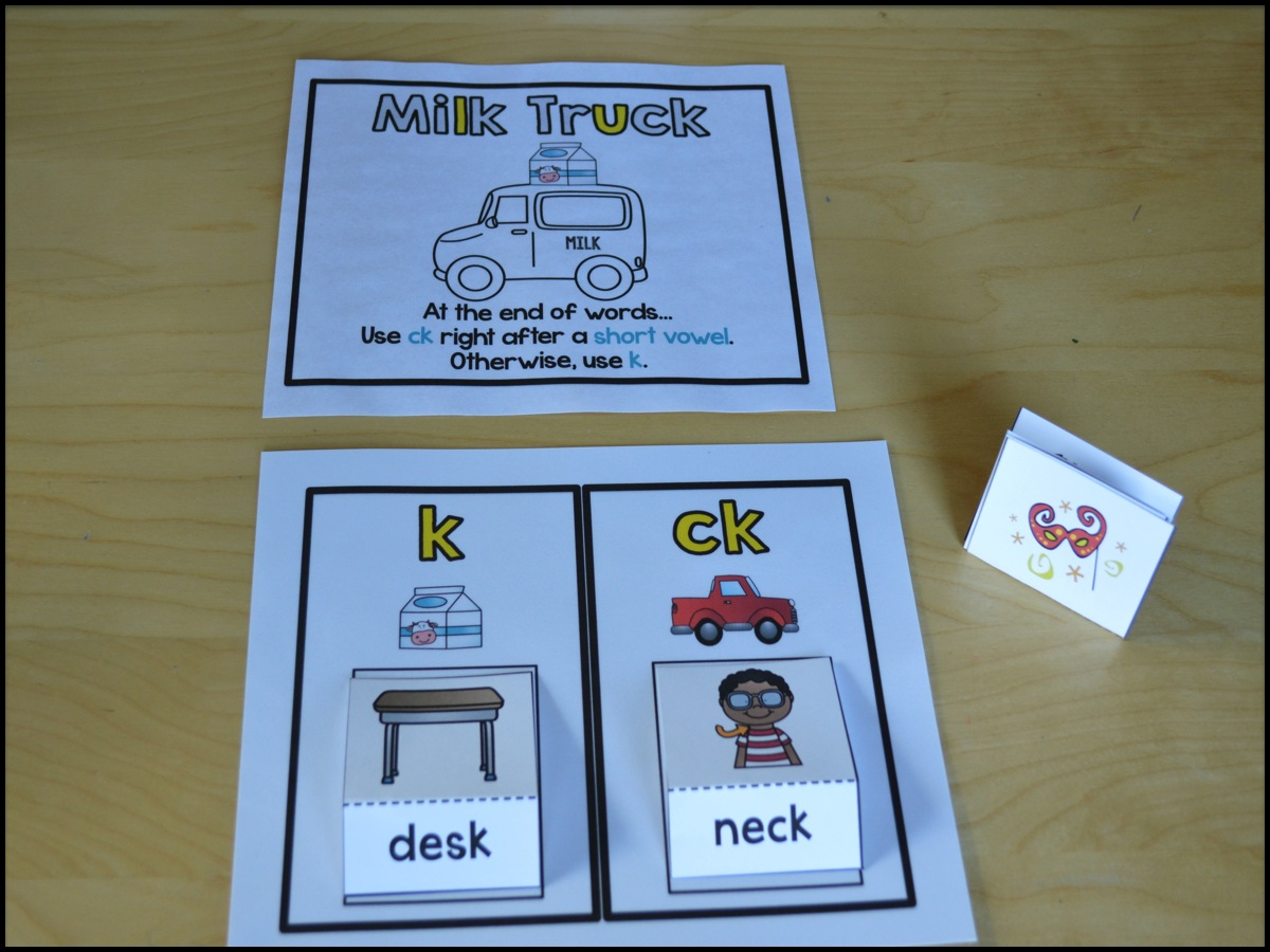 Sarah\'s First Grade Snippets: Teaching the CK rule