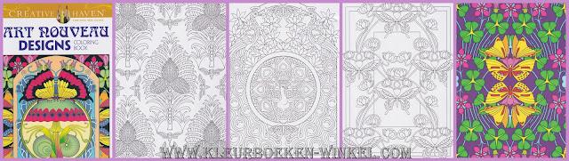 kleurboek art nouveau designs