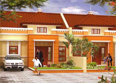 Desain Terbaru Kombinasi Warna Cat Orange Rumah Minimalis Tampilan stylish dan modern 5