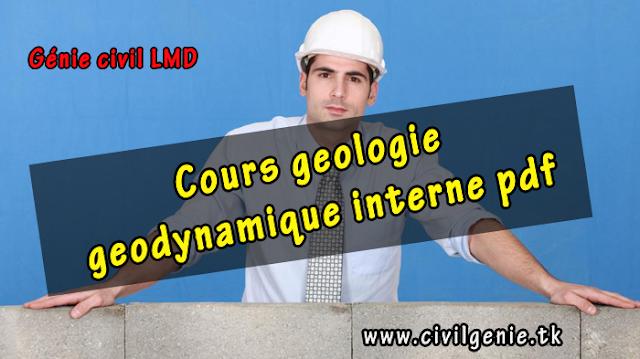 Cours geologie geodynamique interne pdf