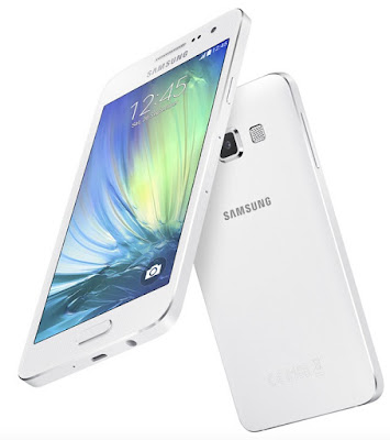 Samsung Galaxy A3 Duos Specifications - LAUNCH Announced 2014, October Versions A300F/DS, A300G/DS, A300H/DS (3G only, no LTE), A300M/DS DISPLAY Type Super AMOLED capacitive touchscreen, 16M colors Size 4.5 inches (~65.5% screen-to-body ratio) Resolution 540 x 960 pixels (~245 ppi pixel density) Multitouch Yes Protection Corning Gorilla Glass 4 BODY Dimensions 130.1 x 65.5 x 6.9 mm (5.12 x 2.58 x 0.27 in) Weight 110.3 g (3.88 oz) SIM Dual SIM (Nano-SIM, dual stand-by) PLATFORM OS Android OS, v4.4.4 (KitKat), upgradable to v5.0.2 (Lollipop) CPU Quad-core 1.2 GHz Cortex-A53 Chipset Qualcomm MSM8916 Snapdragon 410 MEMORY Card slot microSD, up to 64 GB (uses SIM 2 slot) Internal 16 GB, 1 GB RAM CAMERA Primary 8 MP, f/2.4, 31mm, autofocus, LED flash   Secondary 5 MP, f/2.2, 23mm Features Geo-tagging, touch focus, face detection, panorama Video 1080p@30fps NETWORK Technology GSM / HSPA / LTE 2G bands GSM 850 / 900 / 1800 / 1900 - SIM 1 & SIM 2 3G bands HSDPA 850 / 900 / 1900 / 2100 4G bands LTE band 1(2100), 3(1800), 5(850), 7(2600), 8(900), 20(800) Speed HSPA 42.2/5.76 Mbps, LTE Cat4 150/50 Mbps GPRS Yes EDGE Yes COMMS WLAN COMMS WLAN Wi-Fi 802.11 b/g/n, Wi-Fi Direct, hotspot NFC Yes (LTE model only) GPS Yes, with A-GPS, GLONASS USB microUSB v2.0 Radio FM radio, recording Bluetooth v4.0, A2DP, EDR, LE FEATURES Sensors Accelerometer, proximity, compass Messaging SMS(threaded view), MMS, Email, Push Mail, IM Browser HTML5 Java No SOUND Alert types Vibration; MP3, WAV ringtones Loudspeaker Yes 3.5mm jack Yes - Active noise cancellation with dedicated mic BATTERY Non-removable Li-Ion 1900 mAh battery Stand-by  Talk time  Music play   MISC Colors Pearl White, Midnight Black, Platinum Silver, Soft Pink, Light Blue, Champagne Gold SAR EU 0.24 W/kg (head)     0.30 W/kg (body)      - ANT+ support - MP4/WMV/H.264 player - MP3/WAV/WMA/eAAC+/FLAC player - Photo/video editor - Document viewer