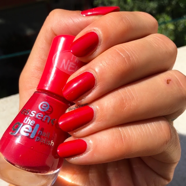 essence the gel nail polish 92 red carpet jel oje