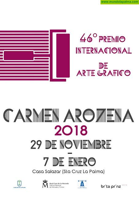 Las mejores obras del 46 'Premio Internacional de Arte Gráfico Carmen Arozena' del Cabildo se exhiben en la Casa Principal de Salazar