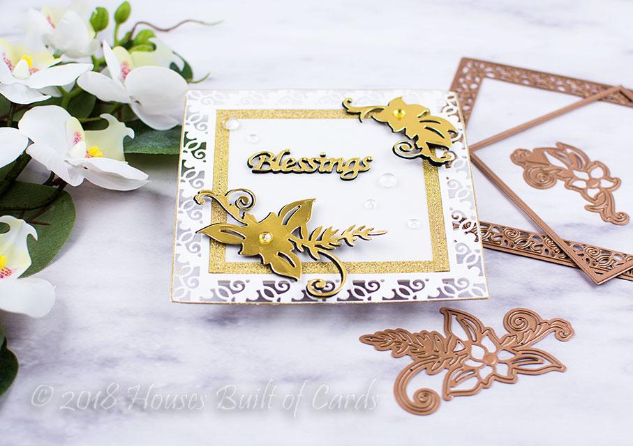 Houses Built of Cards: Ornate Blessings - Spellbinders Large