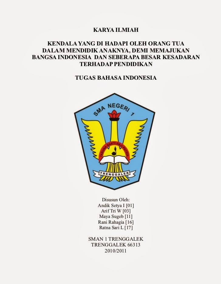 Contoh Artikel Ilmiah Bahasa Indonesia - Contoh Z