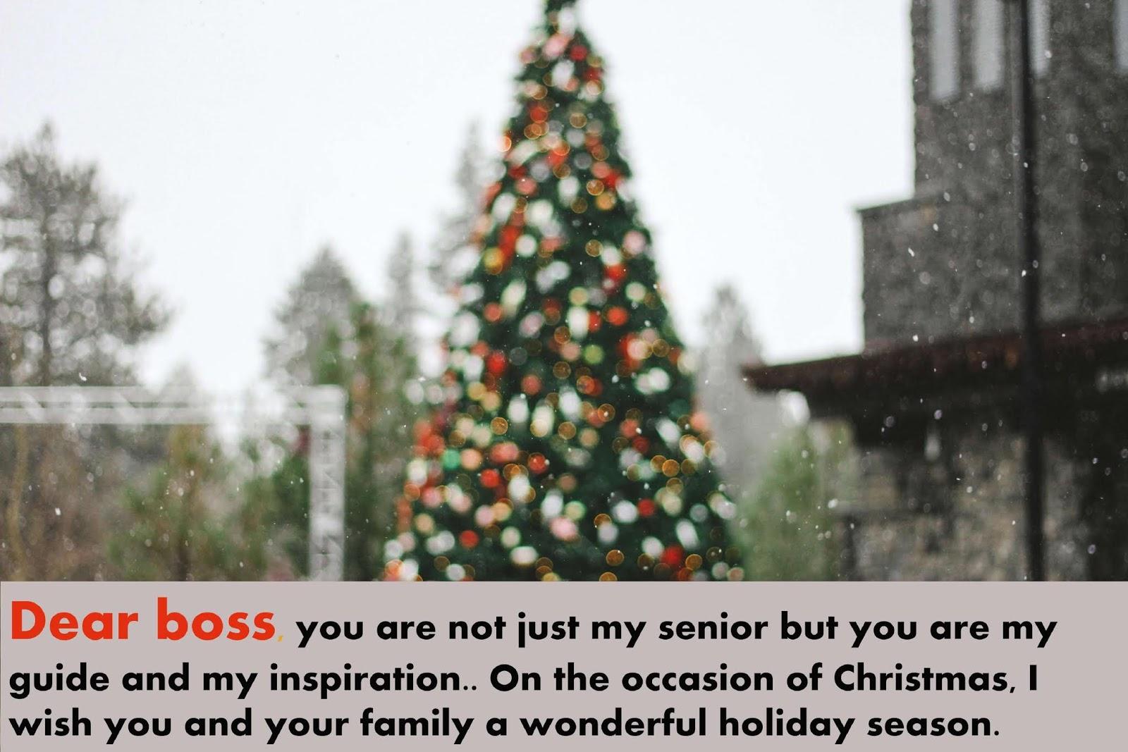 Best Christmas Greetings For Boss 2018