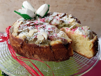 Ciasto serowe z rabarbarem (na oleju rzepakowym)