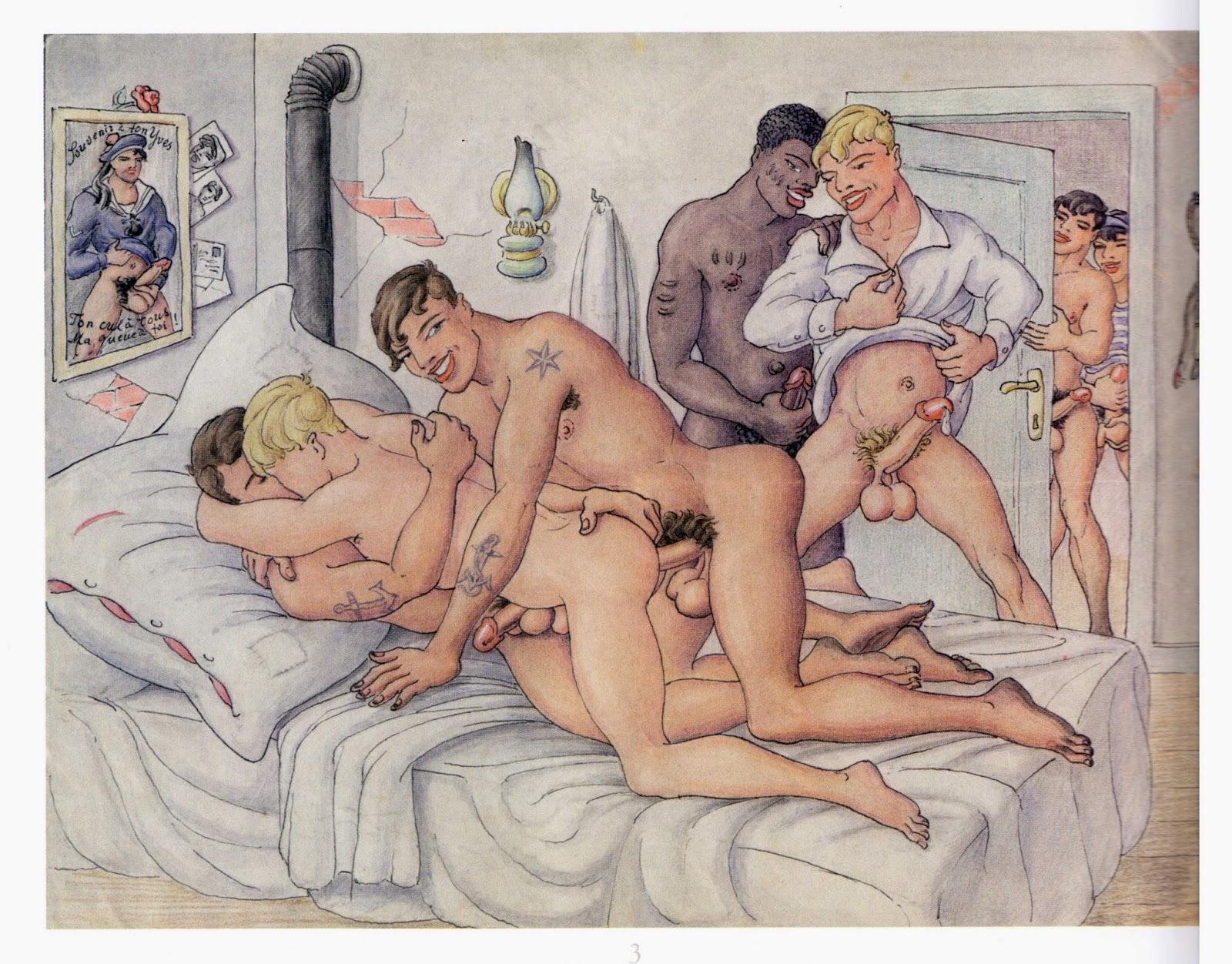 исторические секс рисунки она