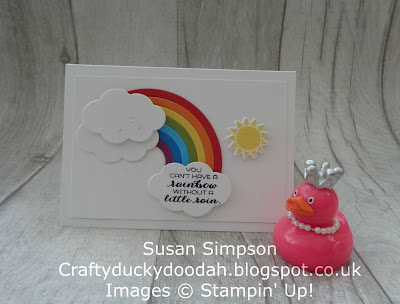 Stampin' Up! UK Independent  Demonstrator Susan Simpson, Craftyduckydoodah!, Sunshine & Rainbows, Coffee & Cards Project February 2018, Supplies available 24/7 from my online store,