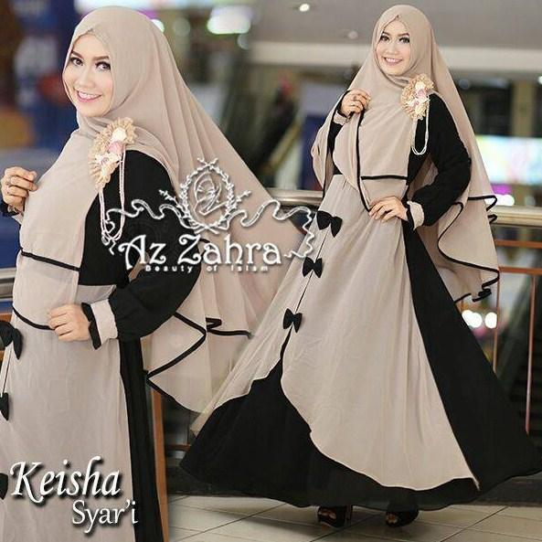 10 Contoh Model Baju Muslim Gaun Wanita Yang Lagi Trend