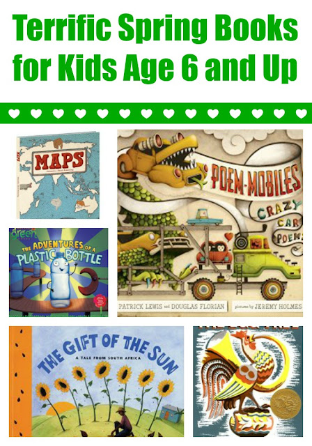Spring books for kids age 6+ with extension activities