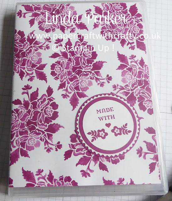 Clear Stamp Case Cover by Linda Parker, UK Stampin' Up! Demonstrator to hold Magnetic Notebook and Business Card Holder