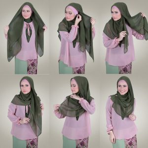 Tutorial Hijab Segi Empat Mode Party Simple
