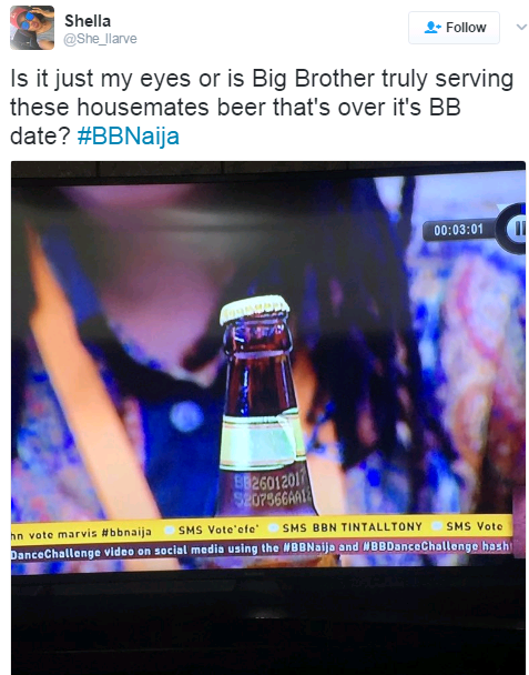 #bbnaija: Is Big Brother Serving The Housemates Expired Drinks?