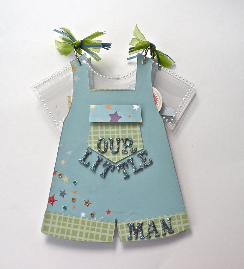Clear Scraps Blog New Release Boy Bib Overalls Album