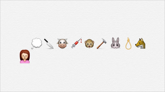 PETA Cruelty Beyond Words emoji campaign