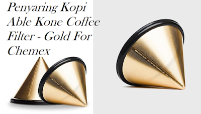 Penyaring Kopi Able Kone Coffee Filter - Gold For Chemex