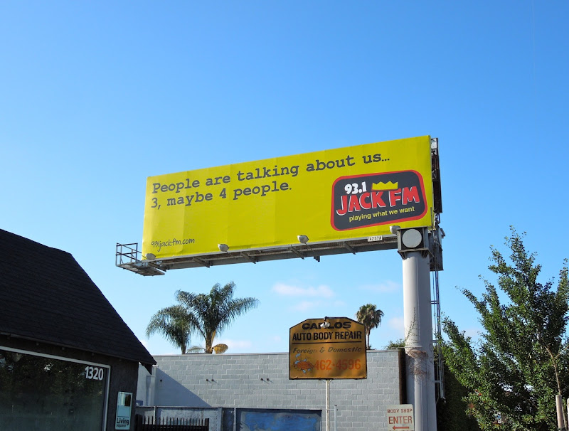 Jack FM People talking billboard