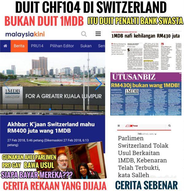 Apa sudah jadi? - Peguam Negara Switzerland sahkan Najib tidak terlibat