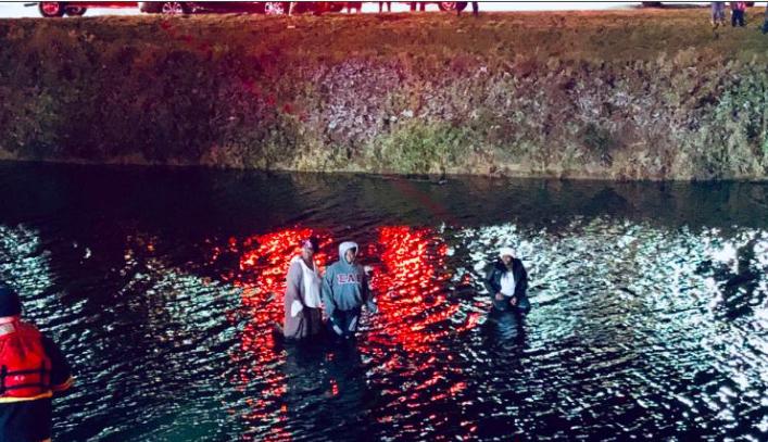 Accidente en laguna congelada