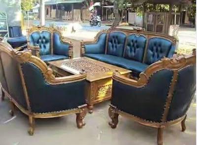 sofa tamu romawi kayu jati