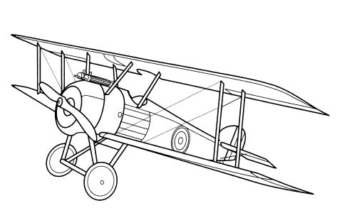 Aeroplane Coloring Pages