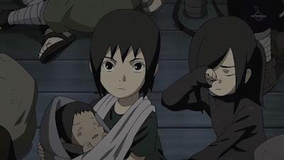Itachi y Izumi de niños, pequeños, chicos