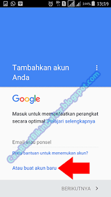 bikin akun gmail via hp