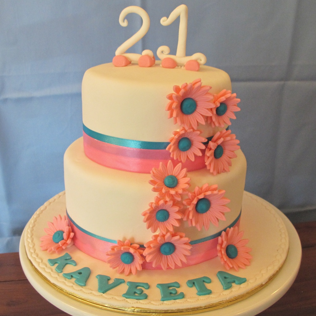Pink Oven Cakes And Cookies 21st Birthday Cake