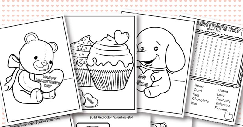 Free Printable Valentine Coloring Pages & Activity Sheets For Kids Sunny  Day Family