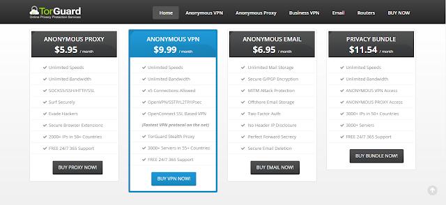 TorGuard VPN Review - price