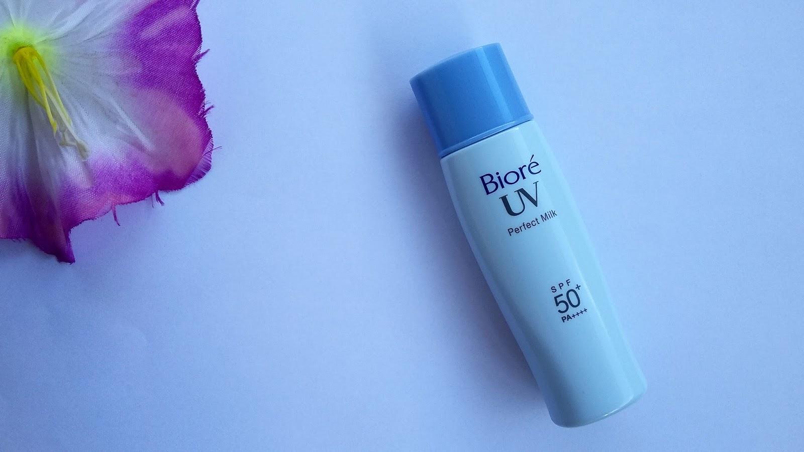 Resenha: Protetor Solar Bioré Perfect Face Milk (Melhor Protetor da Vida)