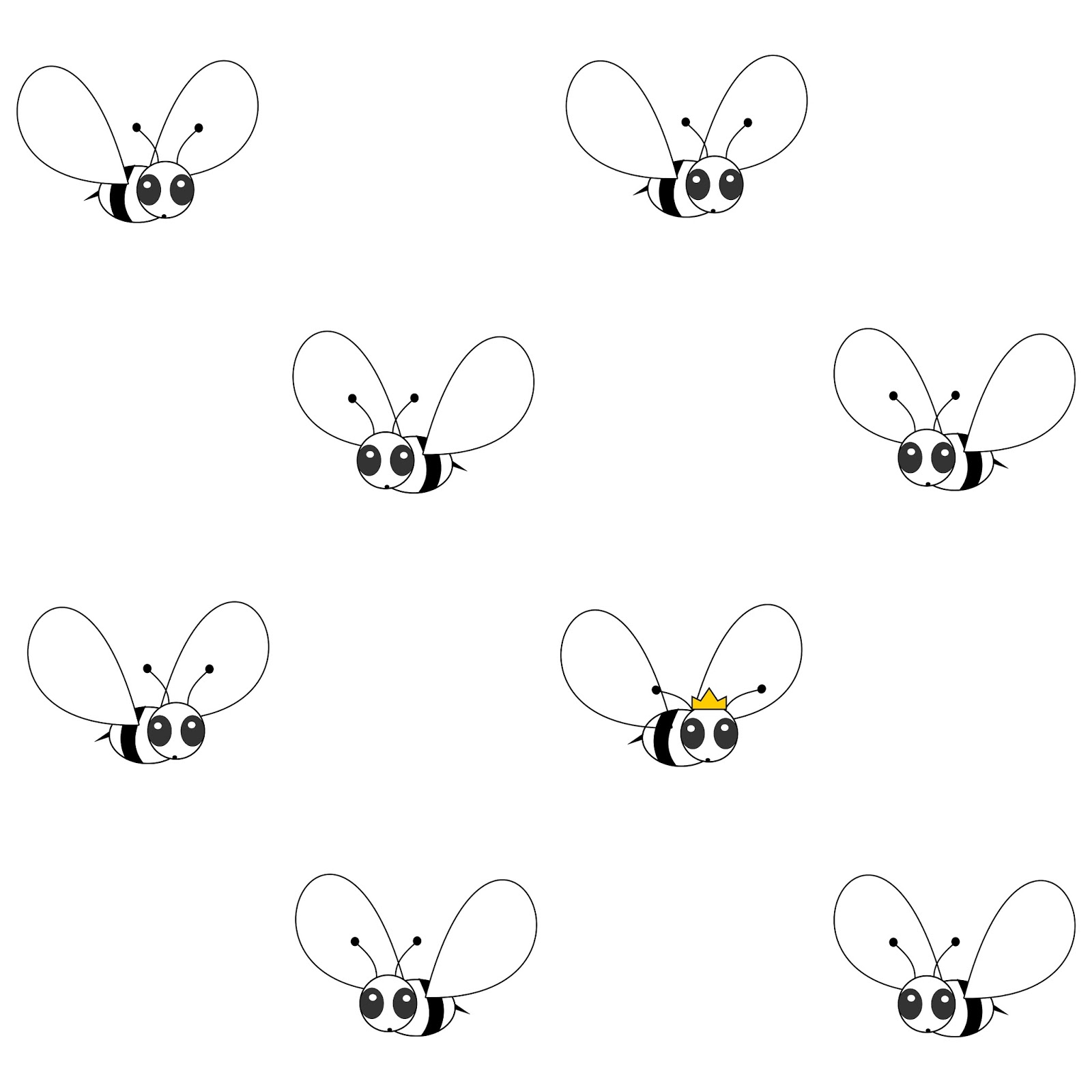 Free Digital Cute Bee Scrapbooking Paper