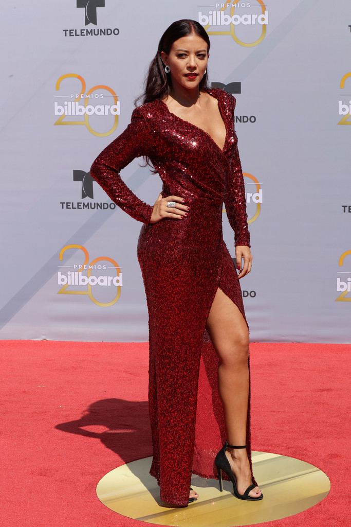 Who Wore What 2018 Billboard Latin Music Awards Red
