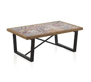 mesa baja de centro baldosas de mosaico