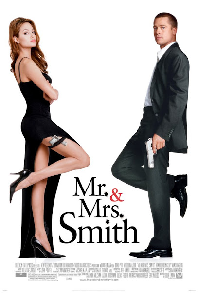 Poster Of Mr. And Mrs. Smith 2005 720p Hindi BRRip Dual Audio Full Movie Download