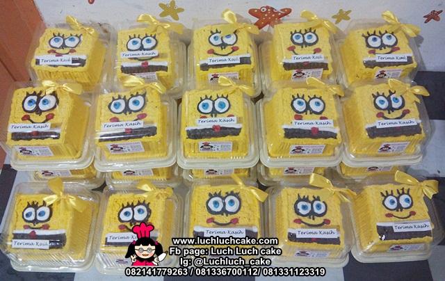 Mini Cake 10cm Tema Spongebob Untuk Khitan