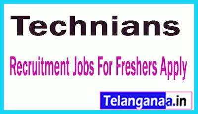 Technians Recruitment Jobs For Freshers Apply