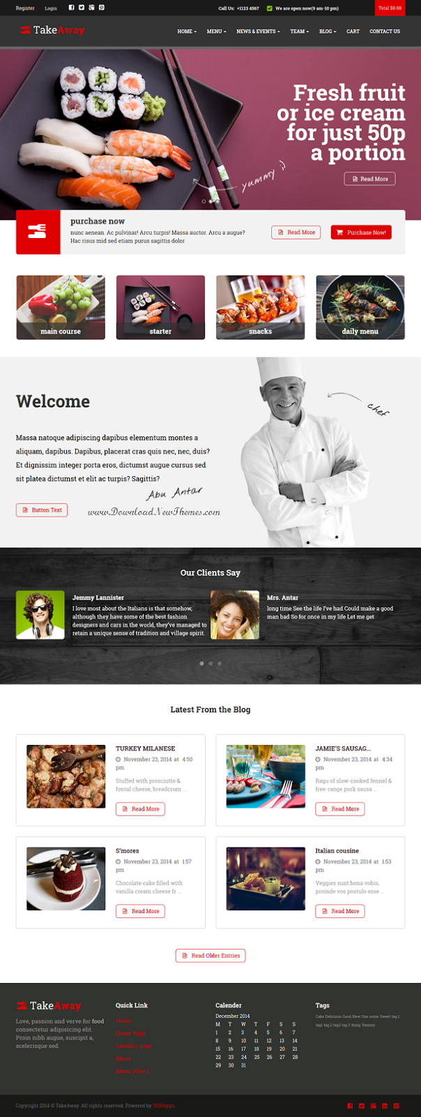 Restaurant & Online Food Ordering Theme