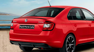 New Skoda Rapid Facelift Rear view Image
